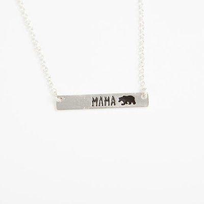 Panache Mama Silver Bar Pendant Necklace