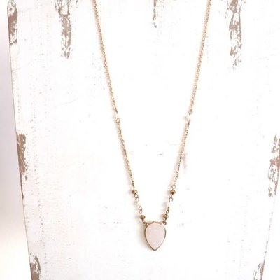 Panache Gold Druzy Necklace