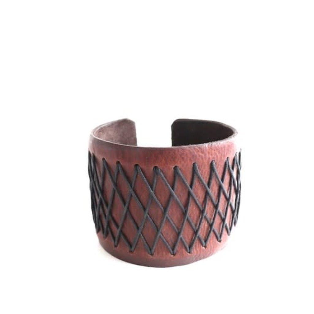 Panache Woven Leather Bracelet