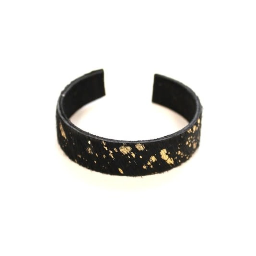 Panache Black Gold Animal Print Cuff