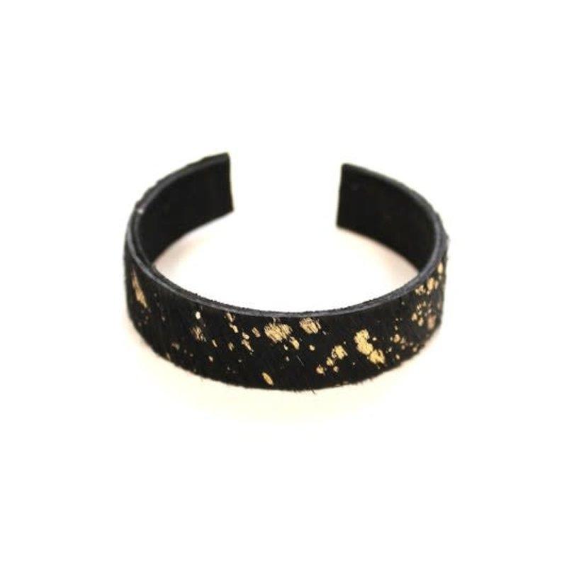 Panache Black Gold Animal Print Cuff