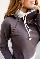 AMPERSAND AVE Charcoal Lace DoubleHood - Ampersand Ave (XS-3XL)