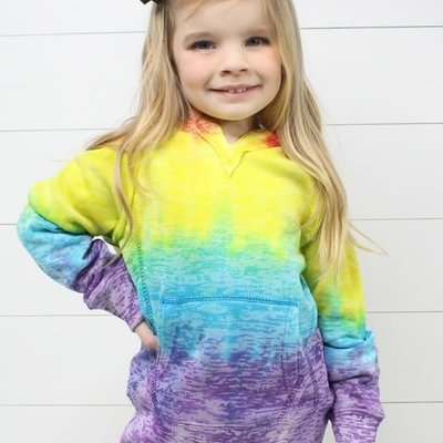 Glittering South Youth Tie Dye Hoodie (YS-YXL)