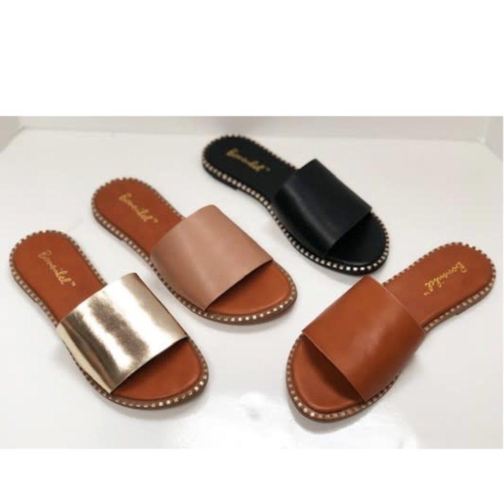 Ccocci Black Studded Flat Sandals (5.5-8.5)