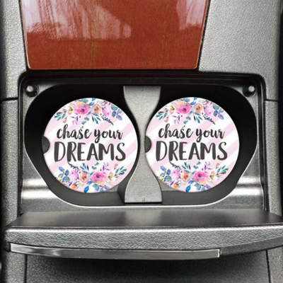 Mugsby Chase Your Dreams Car Coaster Set