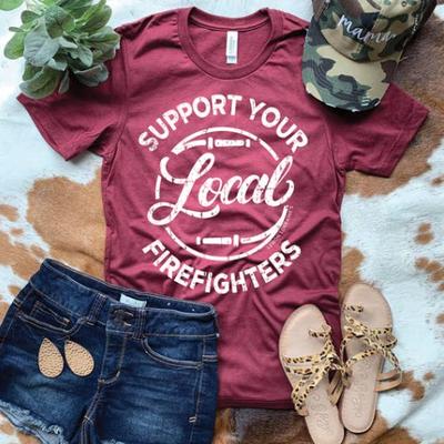 Lemon Lorraine Support Local Firefighters Tee (M-2XL)