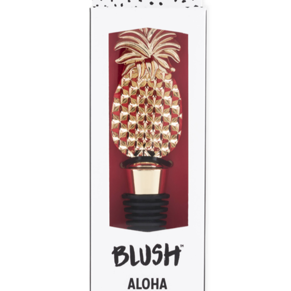 Blush Aloha Pineapple Bottle Stopper