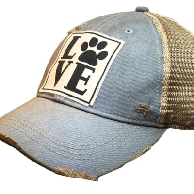 Vintage Life Animal Lover Vintage Trucker Hat - Denim