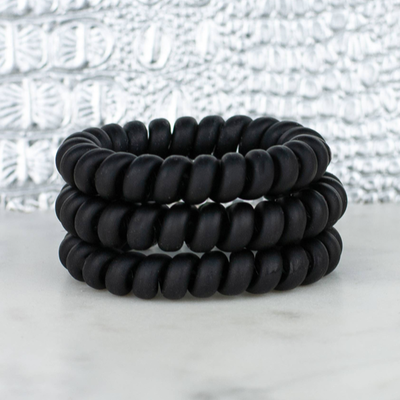 Hotline Hair Ties Matte Black Hair Ties