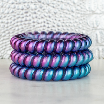 Hotline Hair Ties Cotton Candy Color Changing Hair Ties