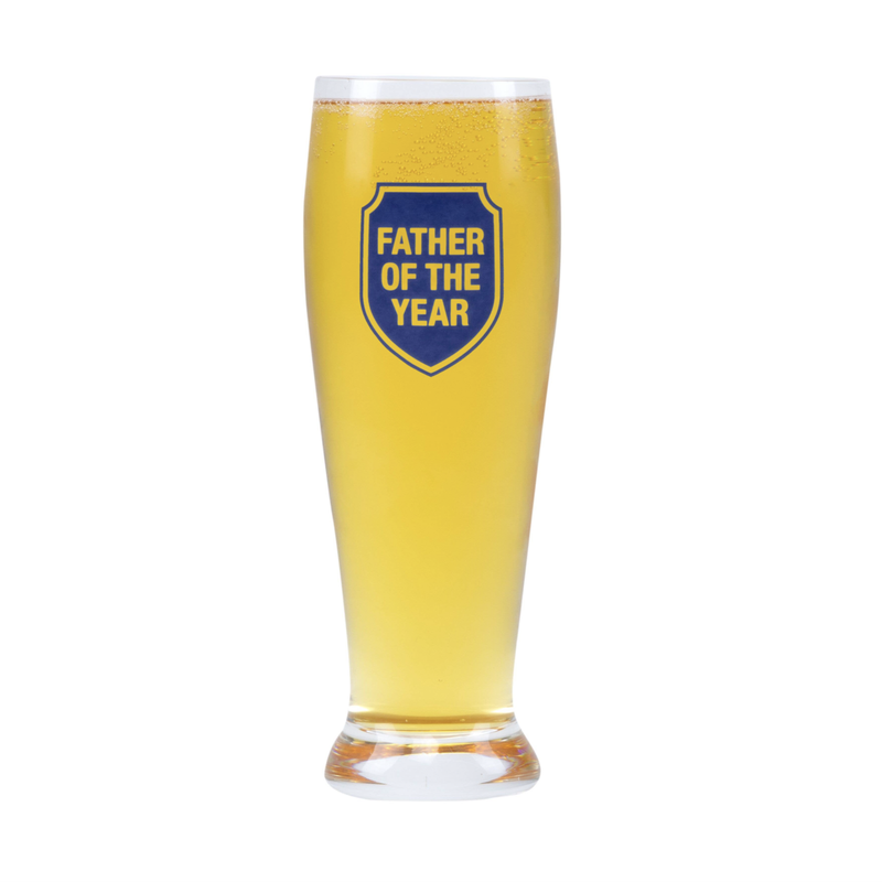 About Face Designs Father of the Year Pilsner Glass