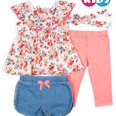 Clothing of America Toddler 3 Piece Capri Set