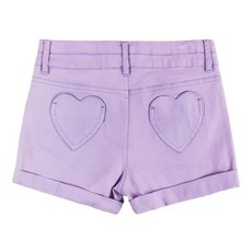 Cutie Pa Tootie Girls Purple Shorts with Heart Pockets (2T-14)