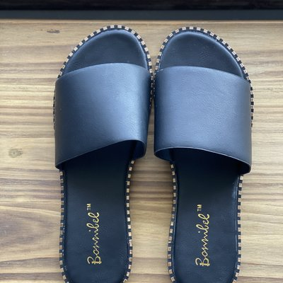 Ccocci Black Studded Flat Sandals