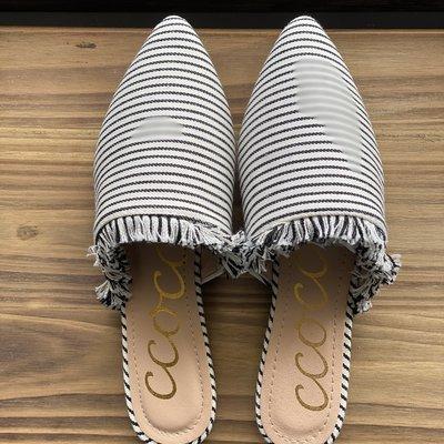 Ccocci Black Stripe Flats