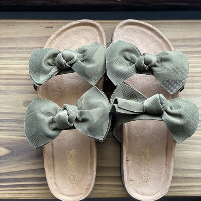 Let's See Style Camo Bow Sandals