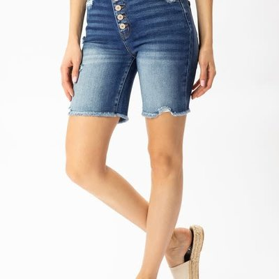 KanCan KanCan High Rise Button Skinny Shorts