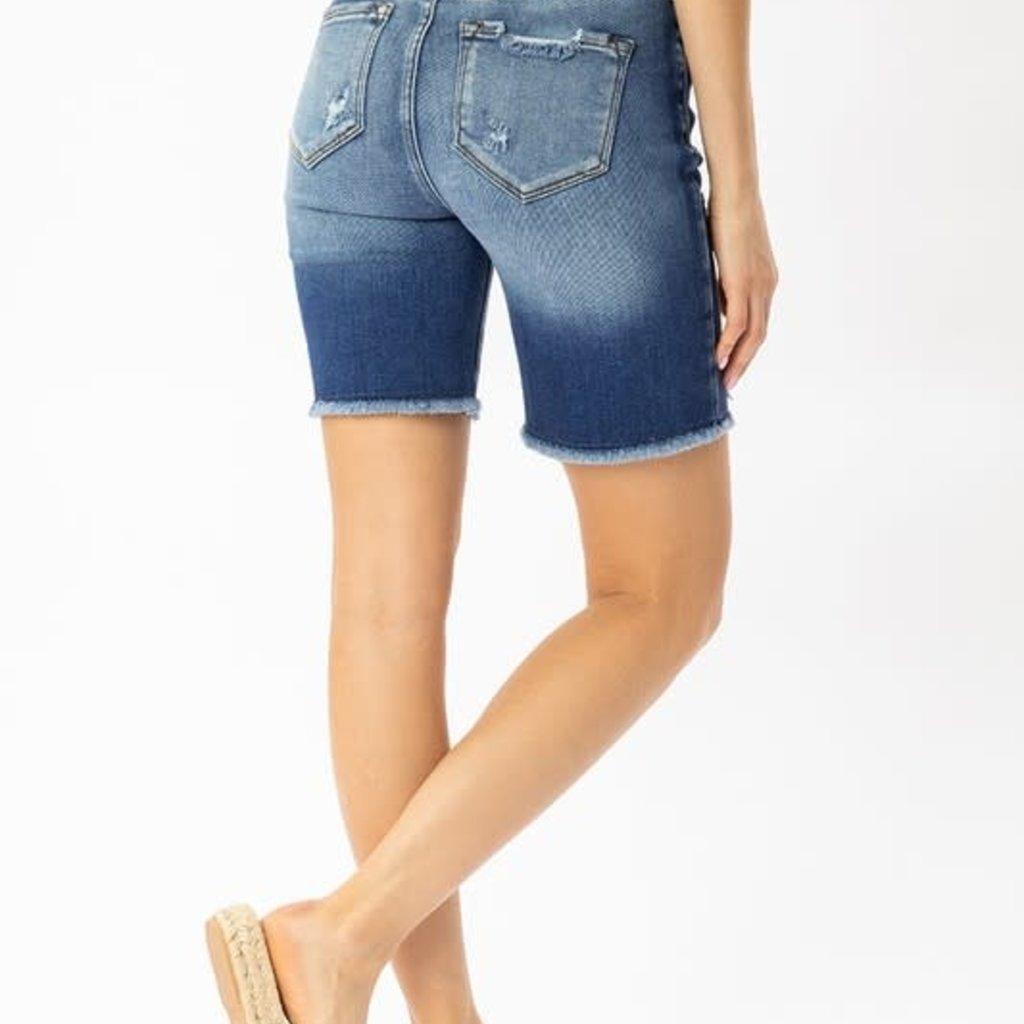 KanCan KanCan High Rise Button Skinny Shorts (Small)