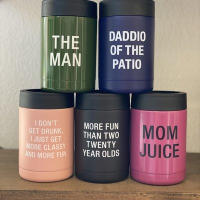 About Face Designs Fun Can Coolers (3 Phrases)