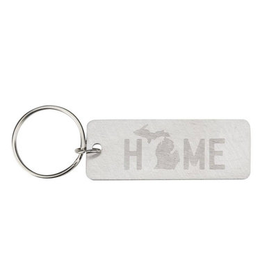 About Face Designs Michigan Home Keychain