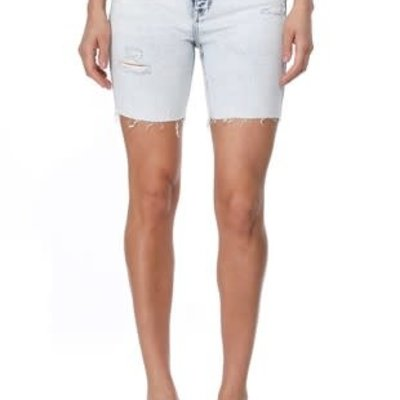 Eunina Eunina Kailey High Rise Acid Wash Bermuda Shorts (XS-L)