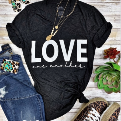 TTT Love One Another V-Neck Tee (XS-2XL)