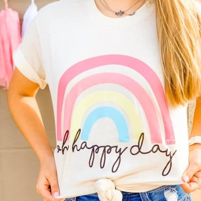 PPTX Oh Happy Day Cream Tee (S-3XL)