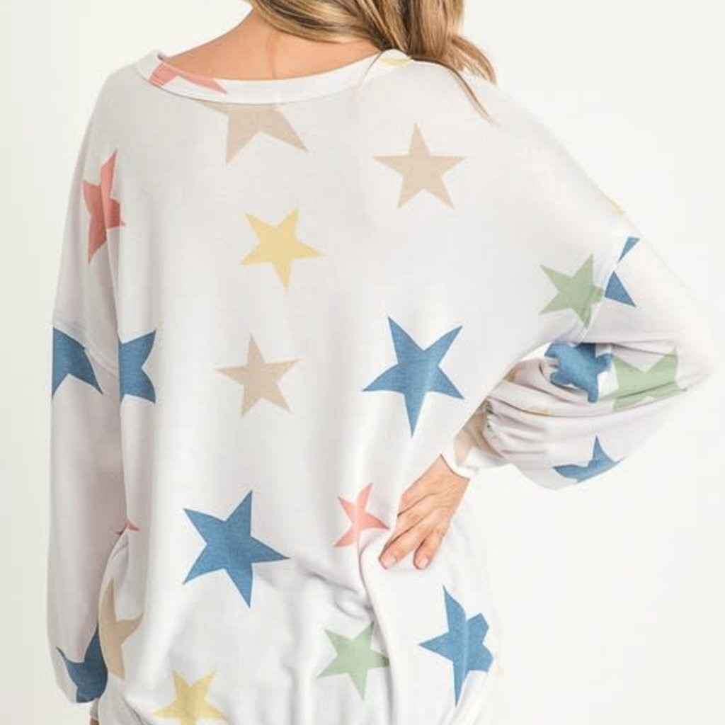 First Love Long Sleeve Star Lounge Top (S-L)