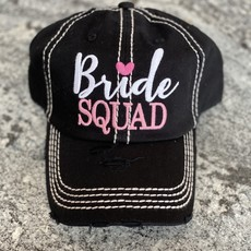 Too Too Hat Bride Squad Vintage Hat - Black