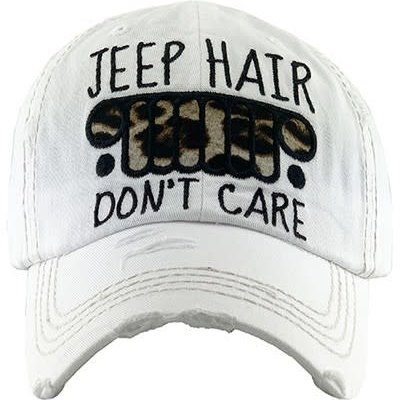 Your Fashion Wholesale Leopard White Jeep Hair Hat