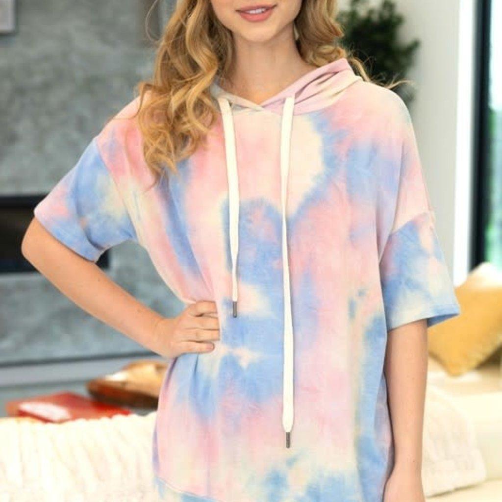 White Birch Pastel Rainbow Tie Dye Hoodie (S-XL)