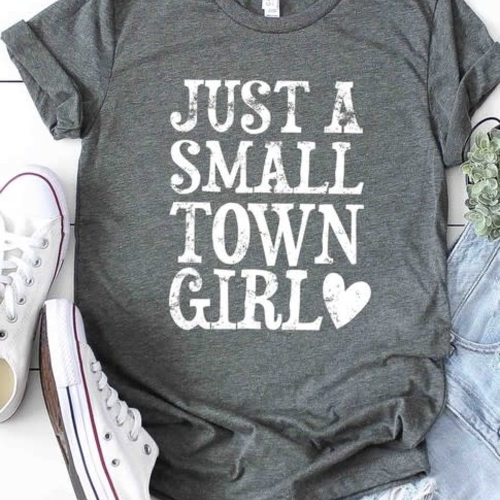 Kissed Apparel Gray Just a Small Town Girl Tee (S-3XL)