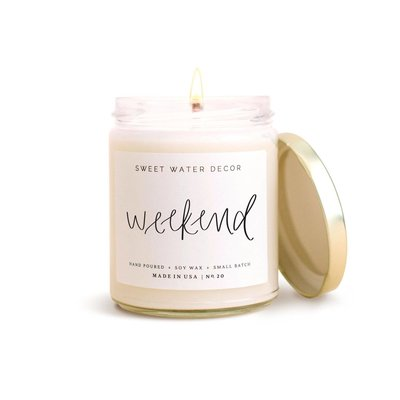 Sweet Water Decor Weekend Soy Candle