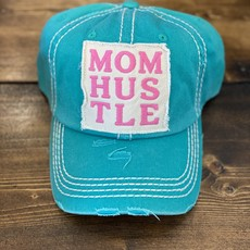 Too Too Hat Teal Mom Hustle Distressed Hat