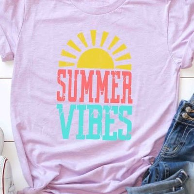 Kissed Apparel Lilac Summer Vibes Tee (2XL & 3XL Only)