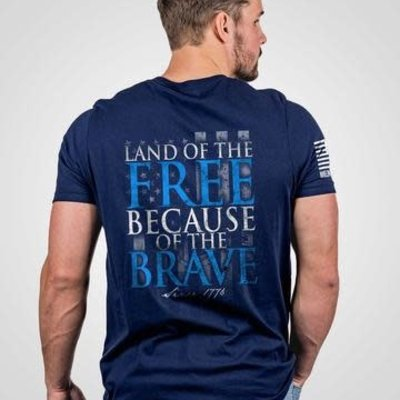 NINE LINE NINE LINE - Navy Because of the Brave Tee