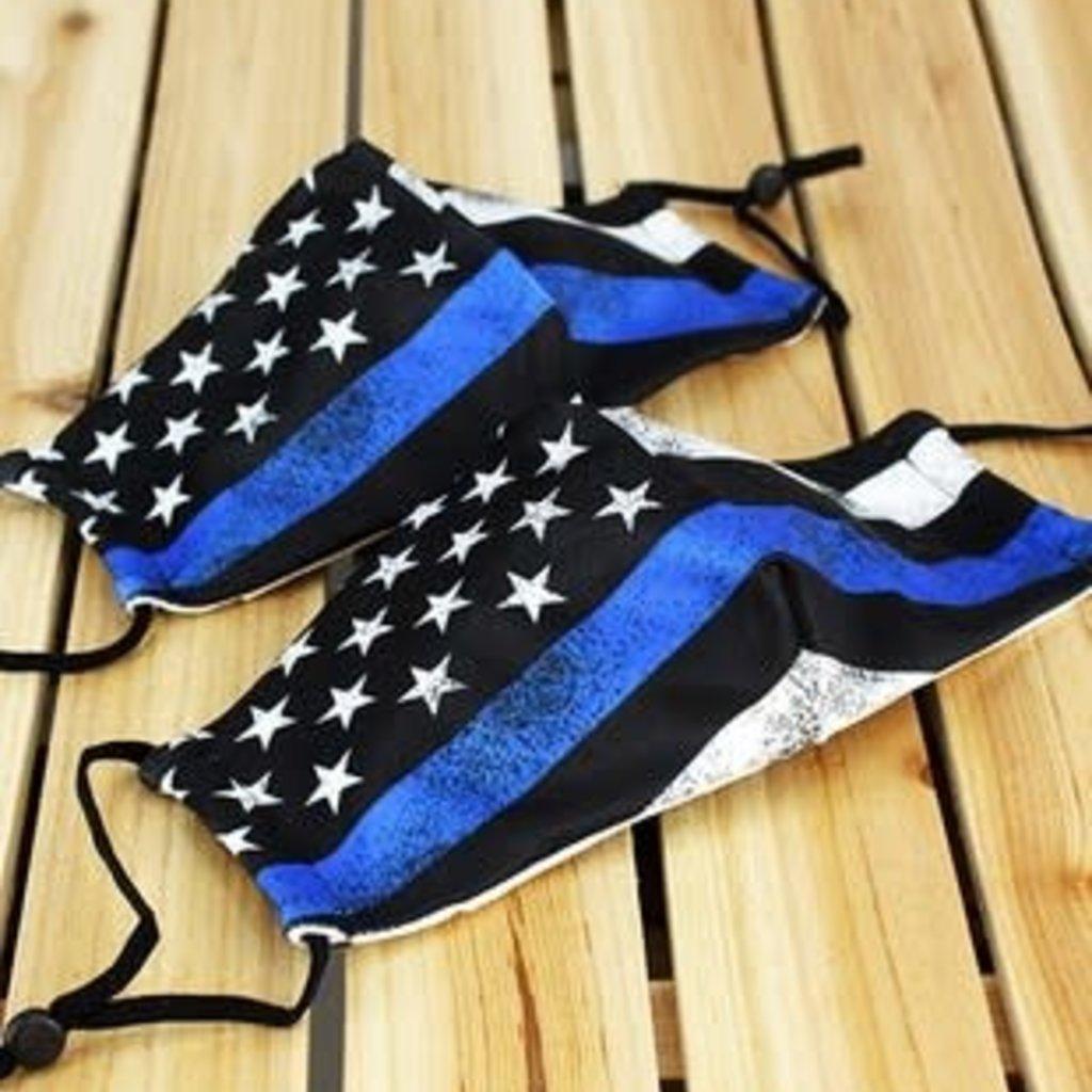 Clothing of America Kids Adjustable Thin Blue Line Mask (Not Medical Grade)