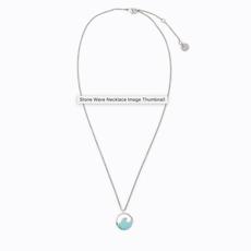 Puravida Pura Vida Turquoise Stone Wave Necklace