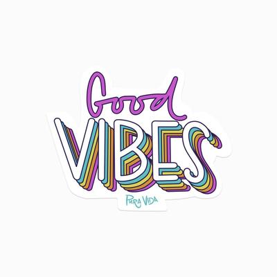 Puravida Pura Vida Good Vibes Sticker
