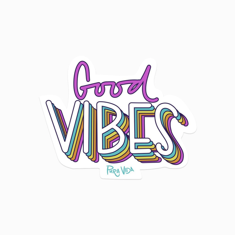 Puravida Pura Vida Good Vibes Sticker