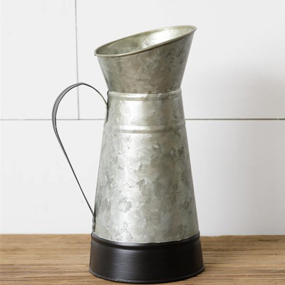 Audrey's Galvanized Tin Pitcher