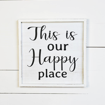 """Pd Home & Garden This is Our Happy Place - 16"""""""