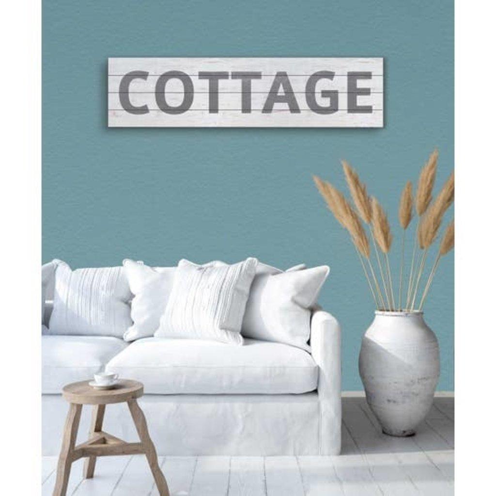 """Kindred Hearts Cottage Slatted Sign - 40""""x10"""""""