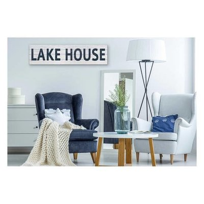 "Kindred Hearts Lake House Slatted Sign - 40""x10"""