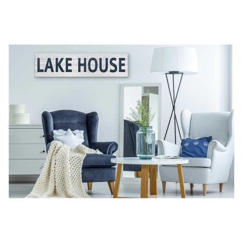 """Kindred Hearts Lake House Slatted Sign - 40""""x10"""""""