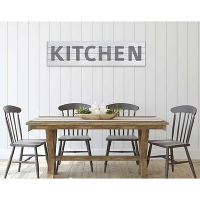 "Kindred Hearts Kitchen Slatted Sign - 40""x10"""