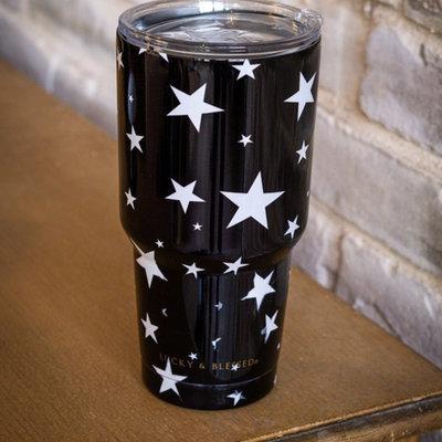 Lucky & Blessed Black Star Tumbler