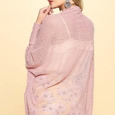 Oddi Pink Slub Knit Cardigan (S-L)