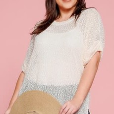 Oddi Ivory Netted Knit Top (S-3XL)
