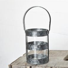 "Pd Home & Garden 6"" Round Tin Lantern"
